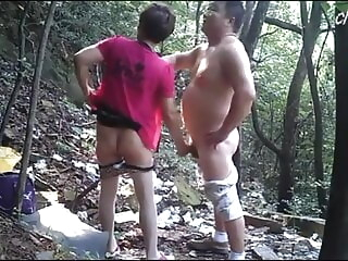amateur asian Asian Bear Enjoys Prostitute In Woods