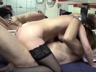amateur group sex Mature prostitute gets pussy licked