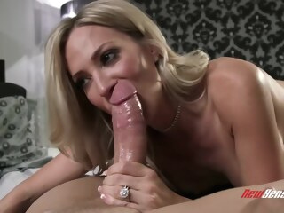 big tits blonde Busty blonde woman, Blake Morgan is playing with her big tits while getting fucked hard