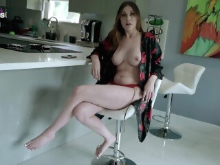 boobs brunette Fucking My Hot New Step Mom with Huge Tits for the First Time - Amiee Cambridge
