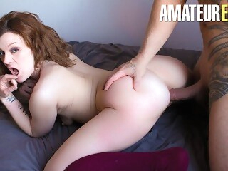 amateureuro butt CastingFrancais - Big Ass Canadian Newbie Tries Porn For The First Time