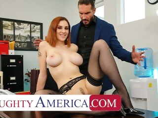 naughtyoffice boobs Naughty America - Lilian Stone drains her boss' balls to help relieve his stress