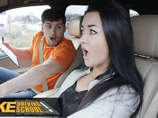 fakedrivingschool babe Fake Driving School Zuzu Sweet Gets Spunk in Mouth For Her Licence