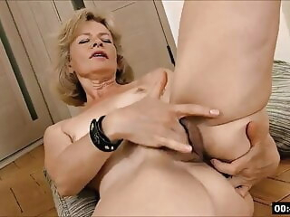 blonde fingering Lustful deaf-mute Russian grandma Diana... 1