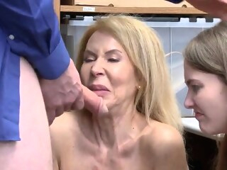 blonde blowjob Natural hairy mature and trapped in hardcore gangbang Suspec