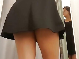 reality upskirt Look at me changing in the fitting room of a store