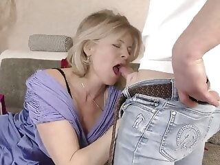 blonde blowjob Lustful deaf-mute Russian grandma Diana, Hardcore