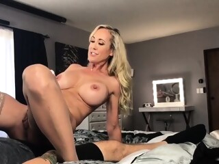 amateur big boobs Blonde MILF In Stockings Toying